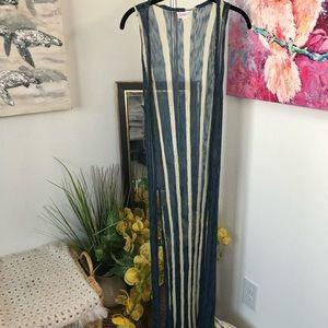 LuLaRoe Maxi Mesh Cardigan Size XS